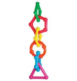 Rosewood Geometrix Vinyl Parrot Geometric Solid Chain Toy