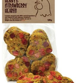 Rosewood Hennys Strawberry Hearts for Chickens 120g