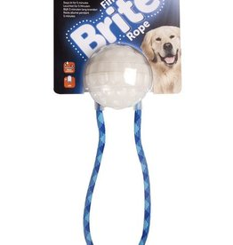 Sharples & Grant Find Brite Rope Glow Dog Toy Ball on a Rope