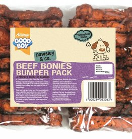 Good Boy Beef Flavour Bonies 10cm 4 inch Dog Treats, 450g