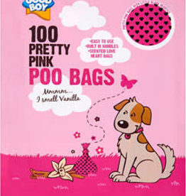 Good Boy Pretty Pink Scented Poo Bags pack of 100