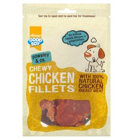 Good Boy Pawsley & Co  Chewy Chicken Fillets Dog Treats, 80g