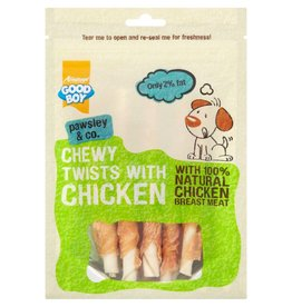 Good Boy Pawsley & Co Chewy Twists with Chicken Dog Treats, 90g
