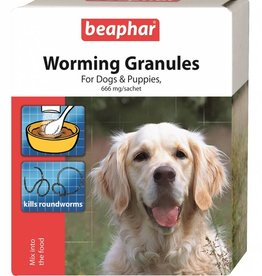 Beaphar Worming Granules For Dogs, 4 x 3g