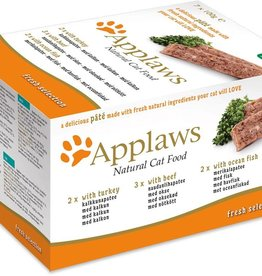 Applaws Cat Pate with Turkey/Beef/Fish 7 x 100g