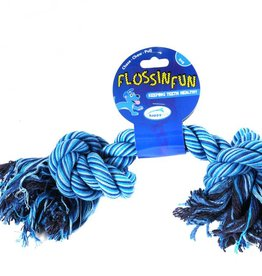 Happy Pet Flossin Fun 2 Knot  Dog Toy