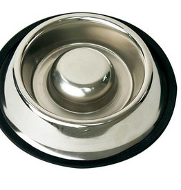 Happy Pet Stainless Steel Slow Feed Pet Bowl 18cm