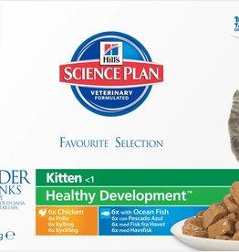 Hill's Science Plan Kitten Tender Chunks in Gravy Original Multipack Wet Kitten Food Pouch 12 x 85g