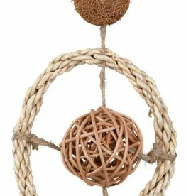 Trixie Natural Bird Toy on a Sisal Rope, 35cm