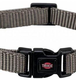 Trixie Premium Adjustable Nylon Dog Collar, Grey