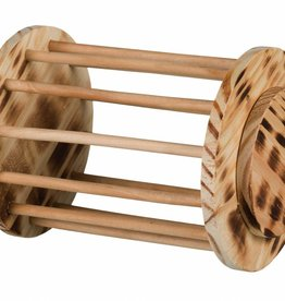 Trixie Rolling Hay Manger made from Flamed Wood 15 x 19 cm