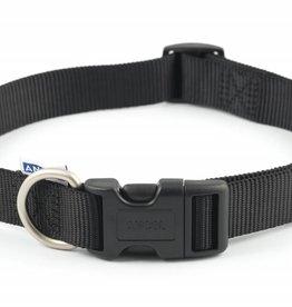 Ancol Heritage Nylon Adjustable Dog Collar, Black