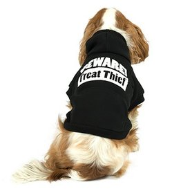 Ancol Black Treat Thief Dog Hoodie