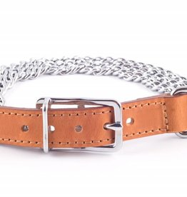 Ancol Heritage 3 Row Heavy Chain Dog Collar Tan