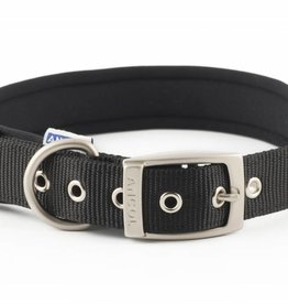 Ancol Heritage Nylon Padded Dog Collar, Black