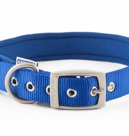 Ancol Heritage Nylon Padded Dog Collar, Blue