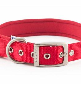 Ancol Heritage Nylon Padded Dog Collar, Red