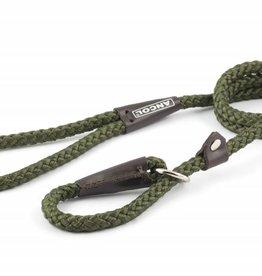 Ancol Heritage Nylon Rope Slip Dog Lead, Green