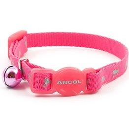 Ancol Hi-Vis Safety Kitten Collar Pink