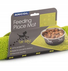 Ancol Non Slip Paw Design Feeding Mat, 40x30cm