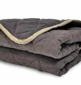 Ancol Quilted Sofa Throw, Brown  250cm x 1m