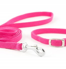 Ancol Small Bite Softweave Collar and Lead Set, Raspberry***