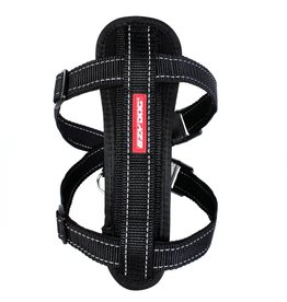 EzyDog Chest Plate Harness with Seat Belt Loop, Black