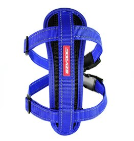 EzyDog Chest Plate Harness with Seat Belt Loop, Blue