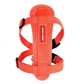 EzyDog Chest Plate Harness with Seat Belt Loop, Burnt Orange