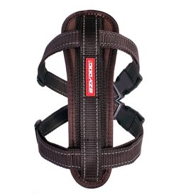 EzyDog Chest Plate Harness with Seat Belt Loop, Chocolate