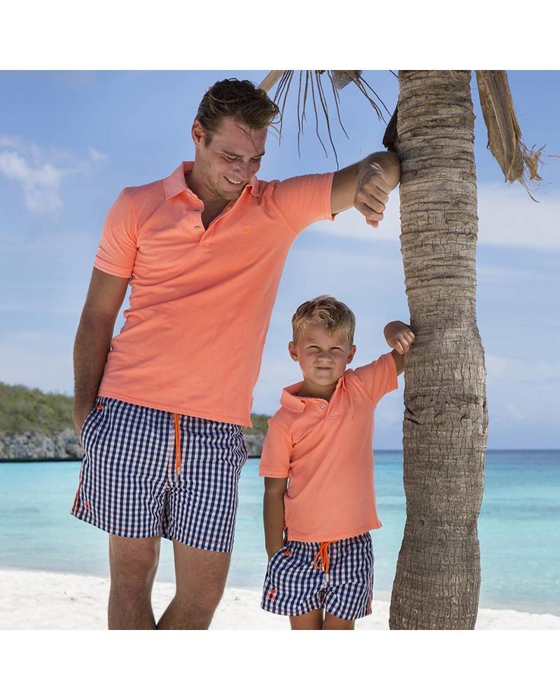 South Beach koszulka polo dla mężczyzn Pomarańczowy