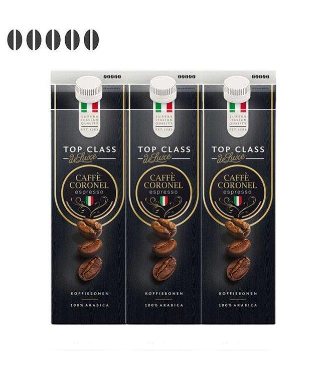 Caffè Coronel Top Class DeLuxe Italiaanse koffiebonen 1kg