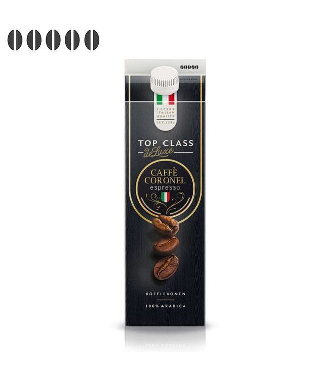 Caffè Coronel Top Class DeLuxe Italiaanse koffiebonen 333g