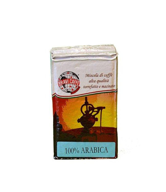 Bravi Caffè 100% Italiaanse Arabica gemalen 250gr