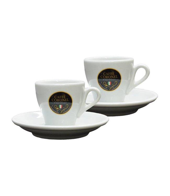 Caffè Coronel Caffè Coronel Italiaanse Espressokopjes 2 stuks