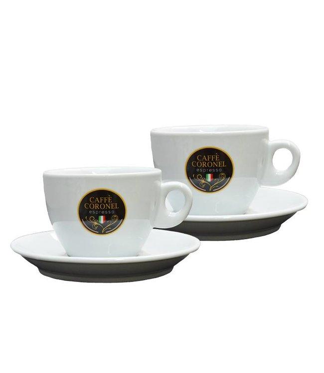 Caffè Coronel Caffè Coronel Italiaanse Cappuccinokopjes 2 stuks