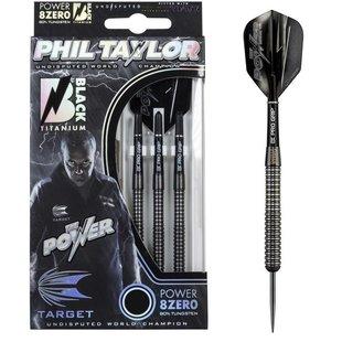 Phil Taylor Power 8ZERO Black Titanium 80% 21-23-25g