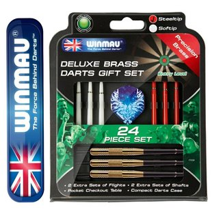 Winmau Deluxe Brass Darts Gift Set