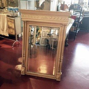 Antieke Spiegel met Houten Omlijsting