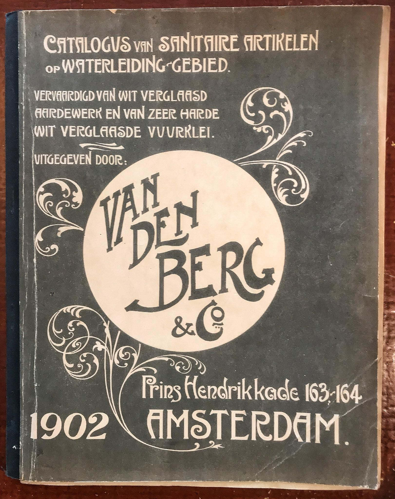 Catalogus sanitair firma van den Berg 1906