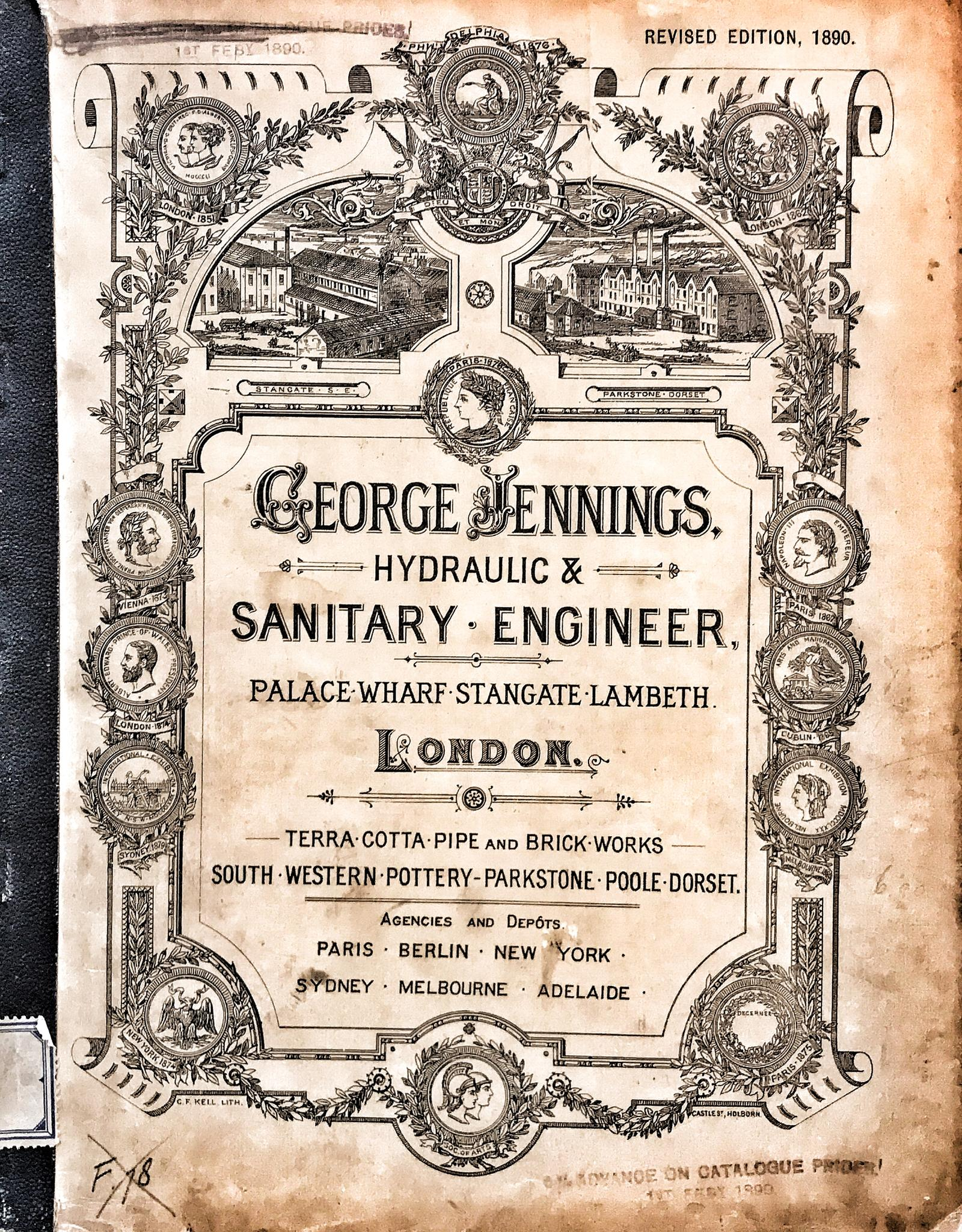 Catalogus Jennings 1890