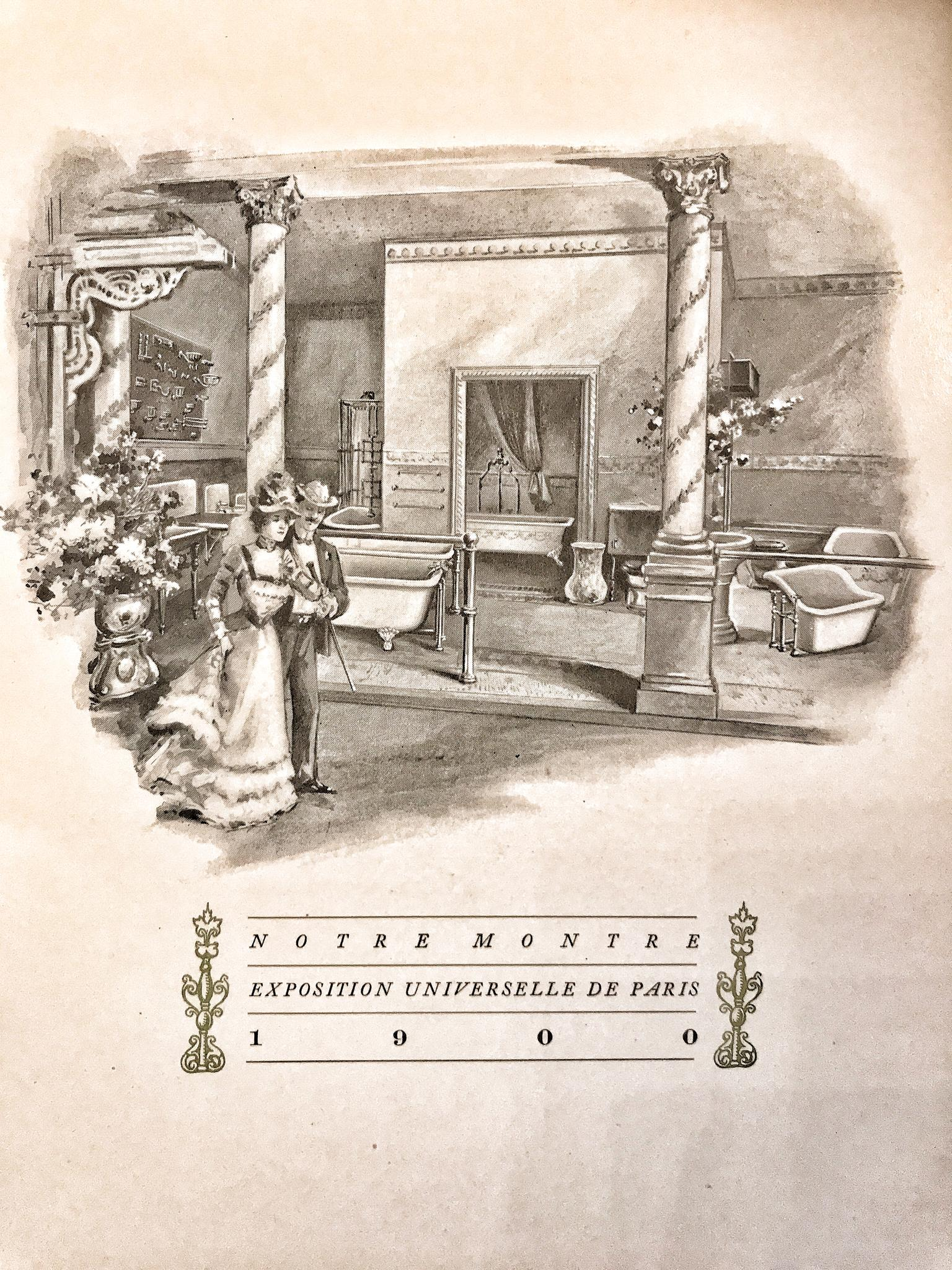 Badkamers tentoongesteld op de wereldtentoonstelling in Parijs