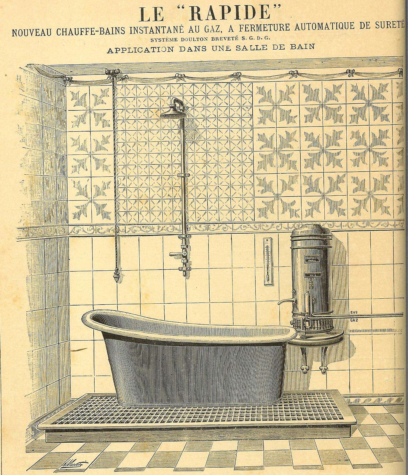 Antiek koperen bad Rapide