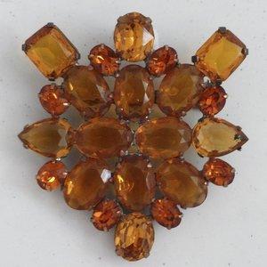 Strassbroche Cluster Amber