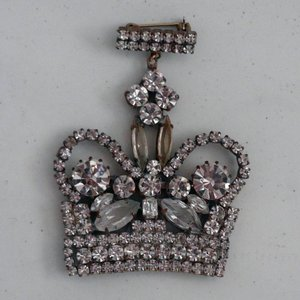 Strass Brooch Crown