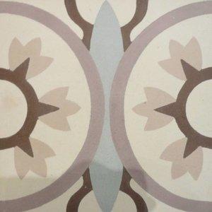 Floor Tile Bleu Floral