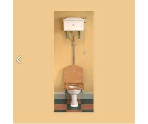 Ouderwetse Stortbak Toilet : Toilet met hooghangende stortbak van porselein affaire d eau