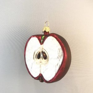 Christmas Decoration Apple Half Red