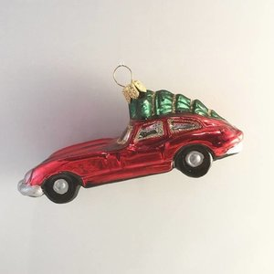 Christmas Decoration Red Racer with Christmas Tree