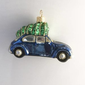 Christmas Decoration Blue Beetle with Christmas Tree
